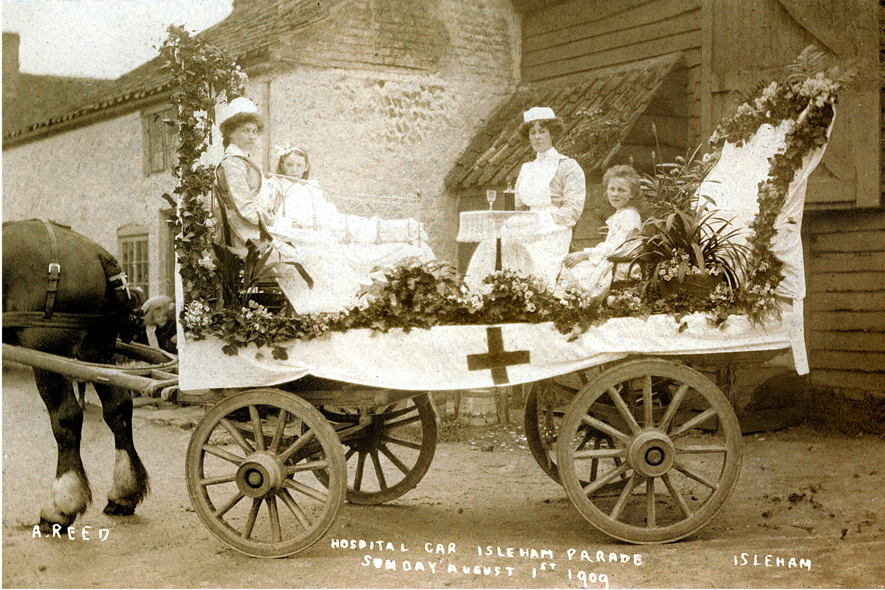 Clements059-copy.jpg - Hospital Cart Isleham Parade August 1st 1909